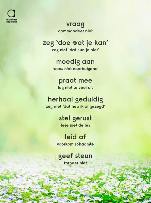 Mooie Keuken Spreuken : Zie hieronder de mooie tekst van de Alzheimer vereniging.